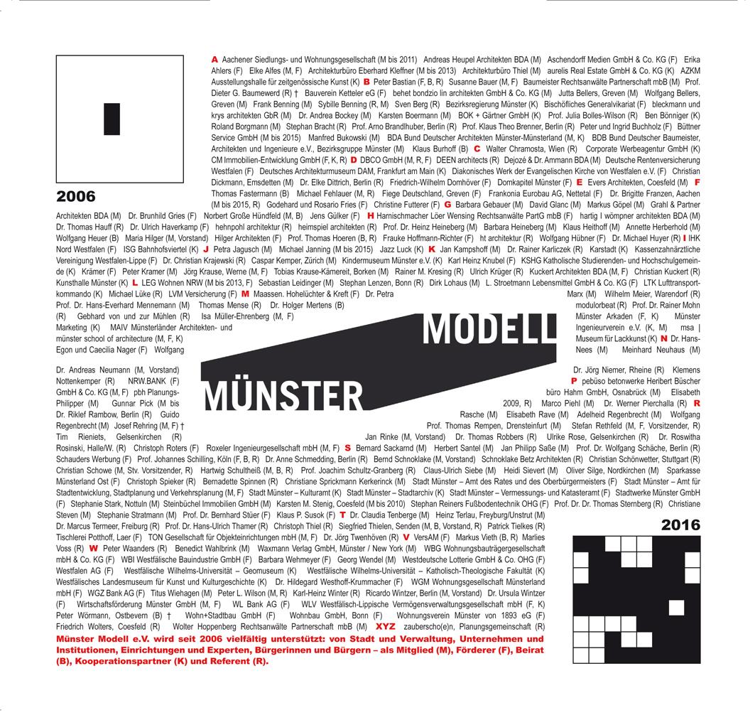 Münster Modell: Jubiläum 2016 - Einladung - Foto: Münster Modell